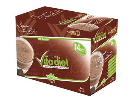 VITA DIET - SALE! ,Swiss Chocolate Shakes 14 sachets