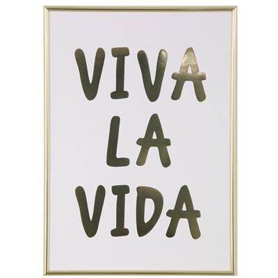 Viva La Vida Framed Gold Print