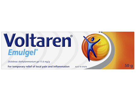 Voltaren Emulgel, Muscle and Back Pain Relief 50 g