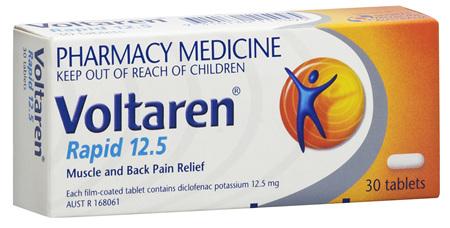 Voltaren Rapid 12.5mg Tablets 30's