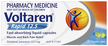 Voltaren Rapid 12.5 Liquid Capsule 20 Pack