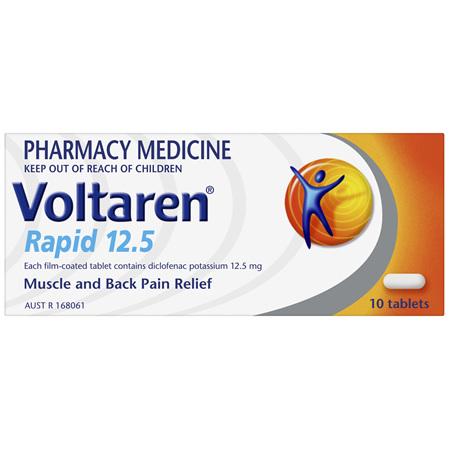 Voltaren Rapid 12.5 10 Tablets