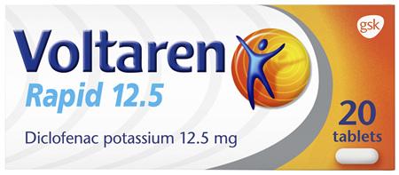 Voltaren Rapid 12.5 20 Tablets