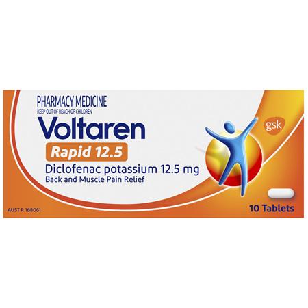 Voltaren Rapid 12.5 Tablets 10 Pack
