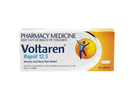 Voltaren Rapid 12.5mg Tablets 20s