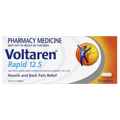 Voltaren Rapid 12.5mg Tablet 10s
