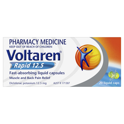 Voltaren Rapid 12.5mg Liquid Capsule 20s