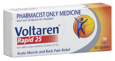 Voltaren Rapid 25mg Tablets 30's