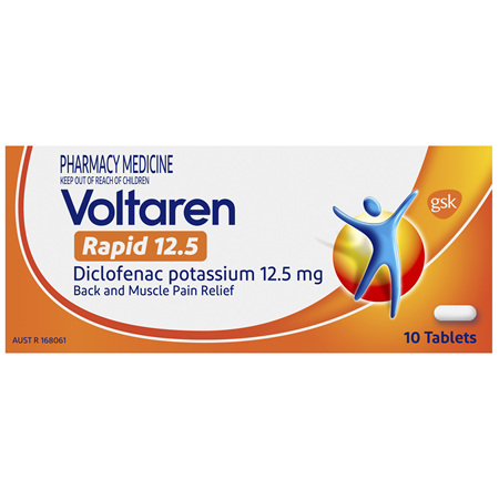 Voltaren Rapid 12.5 Tablets 10 Pack