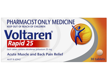 Voltaren Rapid 25, 30 tablets (pain relief)