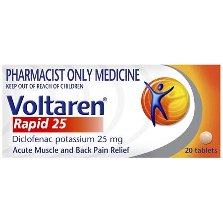 Voltaren Rapid 25 Tablets 20 Pack