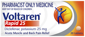 Voltaren Rapid 25 Tablets 20 Pack