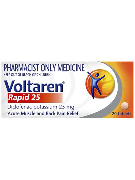 Voltaren Rapid 25 Tablets 20 Tablets