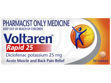 Voltaren Rapid 25 Tablets 30 Pack