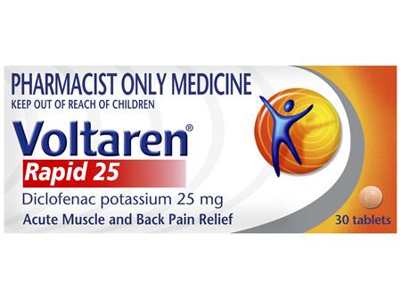 Voltaren Rapid 25 Tablets 30 Pack