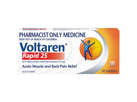 Voltaren Rapid 25mg 30 tablets