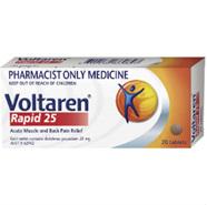 Voltaren Rapid 25mg Tablets 20