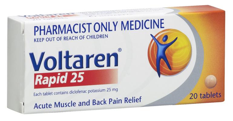 Voltaren Rapid 25mg Tablets 20's