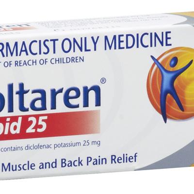 Voltaren Rapid 25mg Tablets 30's