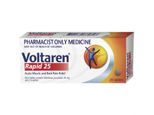 Voltaren Rapid Tablets 25mg 20 Tabs