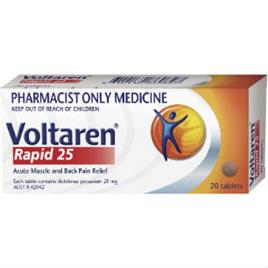 Voltaren Rapid Tablets 25mg 20 Tabs