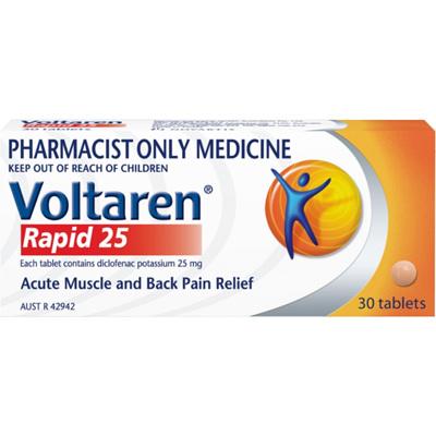 Voltaren Rapid Tablets 25mg 30 Tabs
