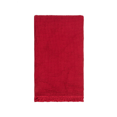 Waffle Throw - Chilli Red