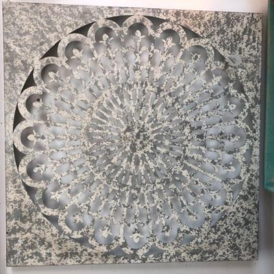 Wall Art Metal Floral Mandala