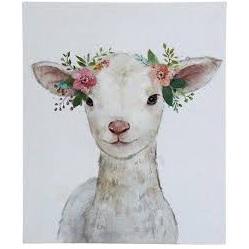 Wall Art Mini Lamb Flowers