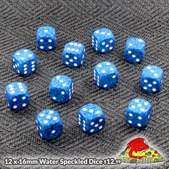 Water Speckled Dice Now Available