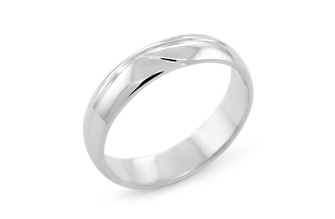WAVED DELICATE MENS WEDDING RING