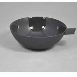 Wedge Handle Bowl Black Ceramic