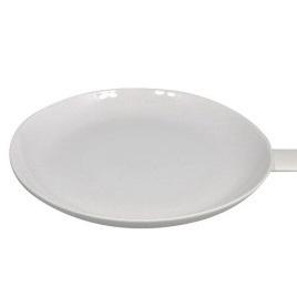 Wedge Handle Plate White Ceramic