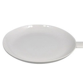 Wedge Handle Plate White Ceramic