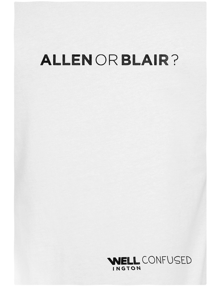 Well Confused, Black on White - Allen or Blair