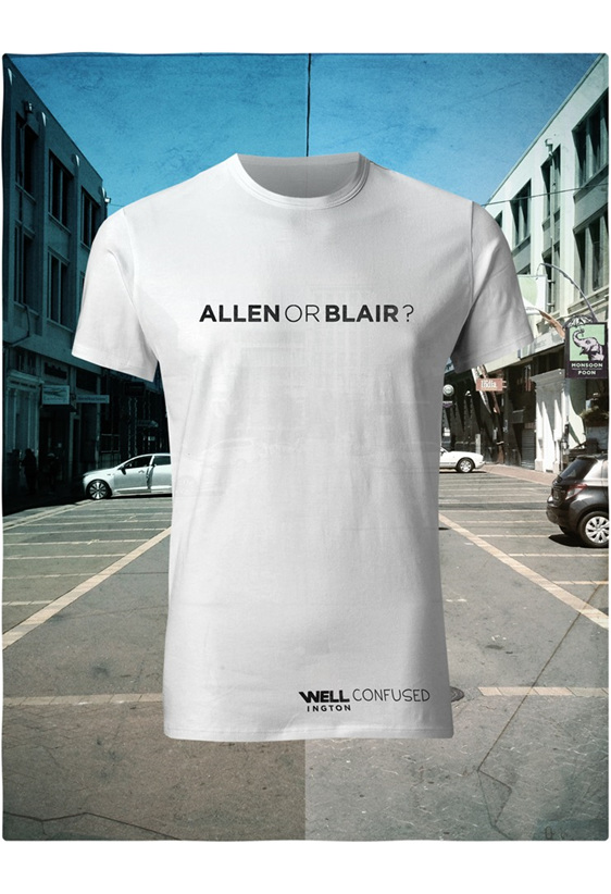 Well Confused, Black on White T-Shirt - Allen or Blair