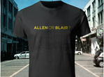 Well Confused, Yellow on Black T-Shirt - Allen or Blair