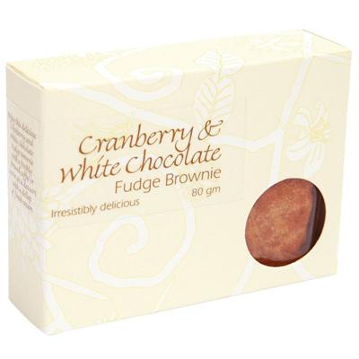 White Choc & Cranberry Brownie