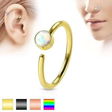 White Opal Nose Hoop