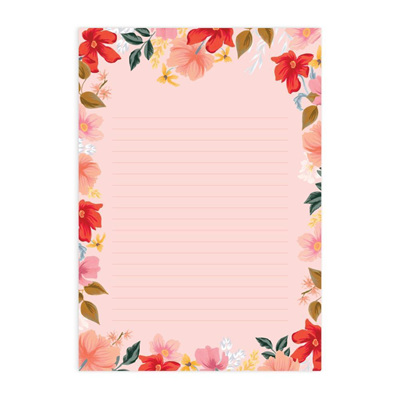 Wild Rose A4 Note Pad