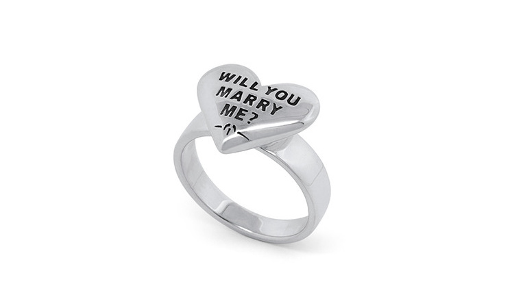 Wilshi Heart Proposal Ring and temporary engagement ring