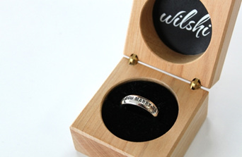 Wilshi Proposal Ring in wooden box