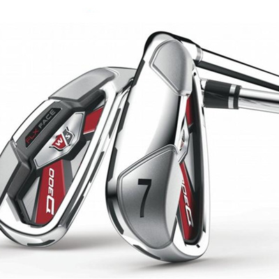 Wilson D300 steel shaft irons