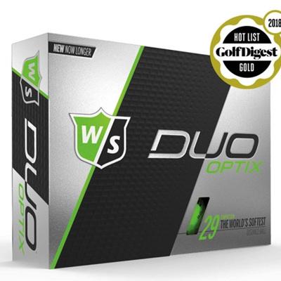 Wilson Duo Optix Golf Ball Dozen - Green