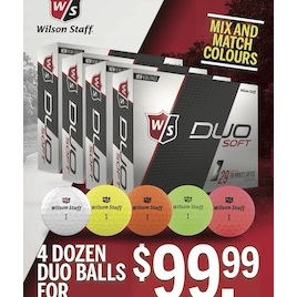 Wilson Duo Soft and Optix Golf Ball Four Dozen Balls