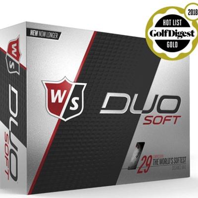 Wilson Duo Soft Golf Ball Dozen - White
