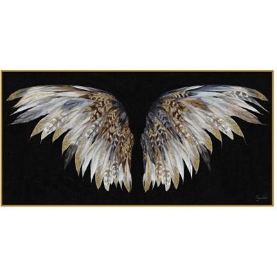 Wings Framed Print w Gold Foil - 140x70cm