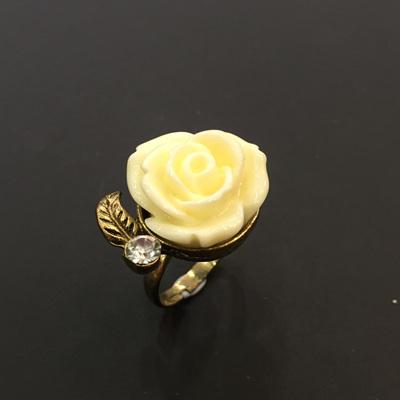 Winter Rose Ring - White
