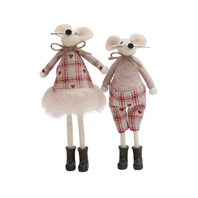 Wolly Heart Standing Mice