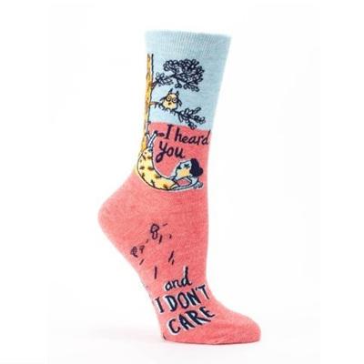 Woman's Socks - I Heard You & I Don't Care